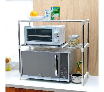 Microwave oven storage rack