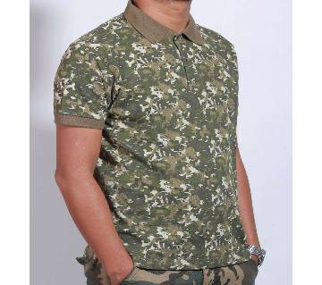 Gents Half Sleeve Camo Polo Shirt