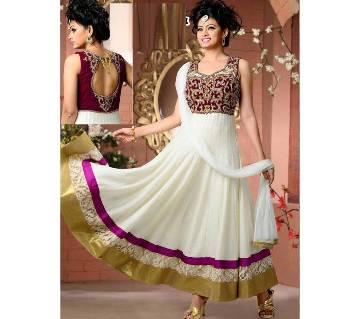 Unstitched Georgette Embroidery Three-piece (Copy)