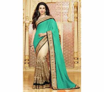 Indian Embroidered Weightless Georgette Saree