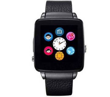 x6s Black smart mobile watch - Sim supported