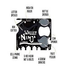 Wallet Ninja 18 In 1 Credit Card Shape Pocket Tool