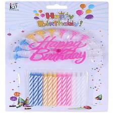 Happy Birthday Candle - Multi color