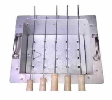 4-টি স্টিক BBQ গ্রিলমেকার নেট কাবাব চুলা