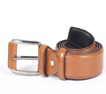 Leather Sandy Brown Leather Casual Belt For Men