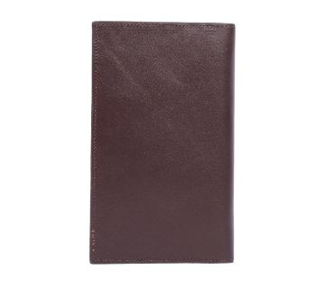 Regular Shaped Leather Long Wallet For Man