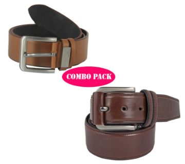 Safa leather 2 Pics Belt Combo Pack For Man