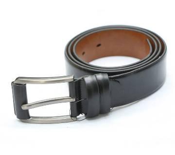 Black Artificial Leather Belt For Man