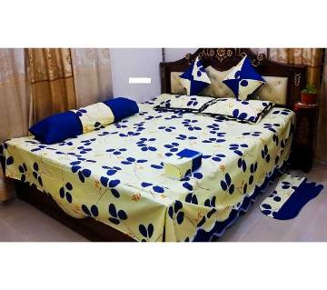 8pc King Size Cotton Panel Bed Sheet