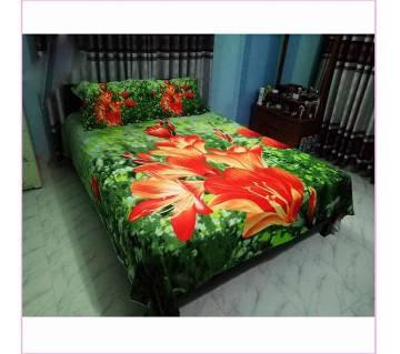 king size cotton 4pcs bed sheet set
