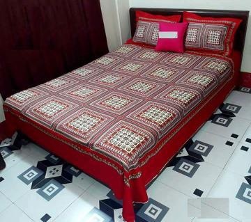 King Size Cotton Panel Bedsheet Set