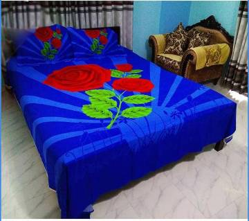 King Size Cotton 4pc Bed Sheet