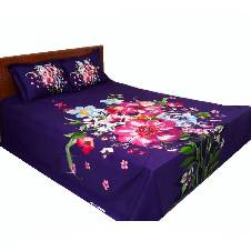 4 Pieces king size cotton panel bed sheet