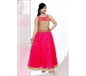 Stitched Indian Sleeveless Frock for Girls