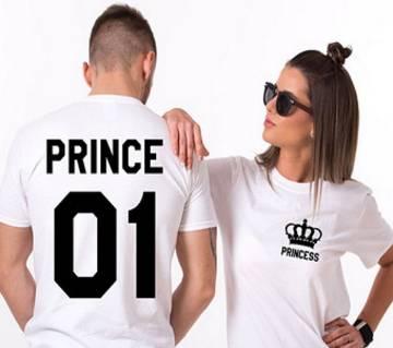 Prince Princes ভ্যালেন্টাইন রাউন্ড নেক কাপল টি-শার্ট