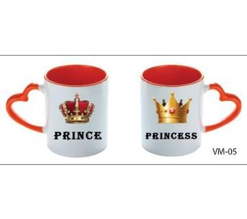 Prince Princes valentine love couple mug
