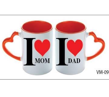 I Love Mom & Dad valentine love couple mug - 2019