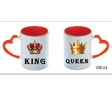 King Queen valentine love couple mug