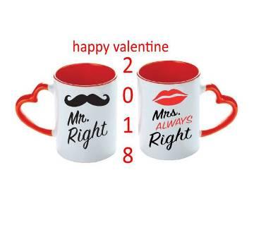 valentine love couple mug (MR-MRS RIGHT 2018)