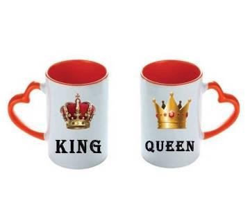 ভ্যালেন্টাইন লাভ কাপল মগ (King-Queen)
