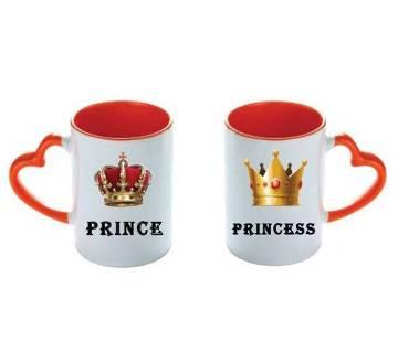 ভ্যালেন্টাইন লাভ কাপল মগ (Prince-Princess)