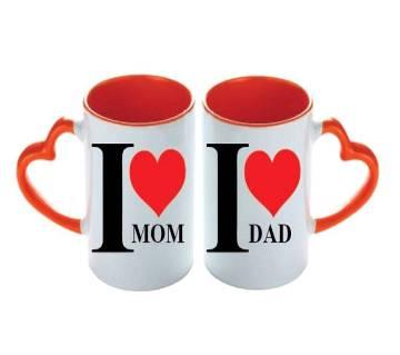 valentine love couple mug (Mom-Dad)