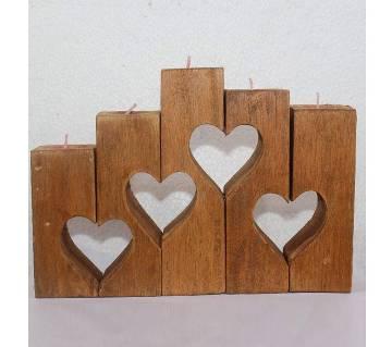 valentine wood Light Candle 4 LOVE