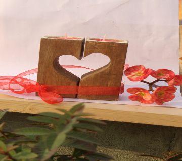 valentine wood Light Candle 5/5