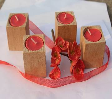 Valentine Day Wooden Light Candle 2/2