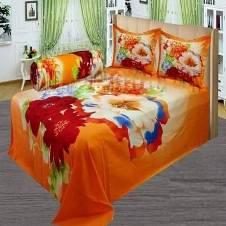 Double Size Panel Cotton Bed Sheet (4 pcs Set)