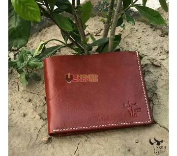 SSB GENUINE LEATHER CREDIT CARD BIFOLD WALLET BROWN SB-W06