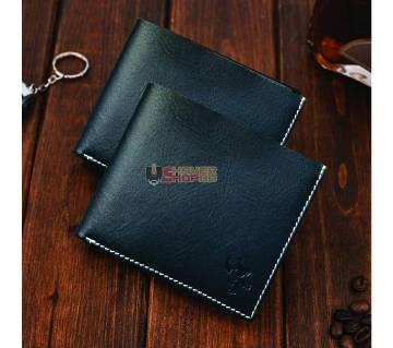 SSB GENUINE LEATHER CREDIT CARD BIFOLD WALLET BLACK SB-W04