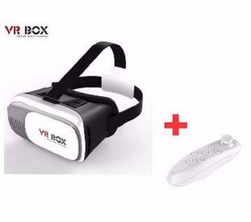VR BOX 2.0 3D গ্লাস উইথ রিমোট কন্ট্রোলার