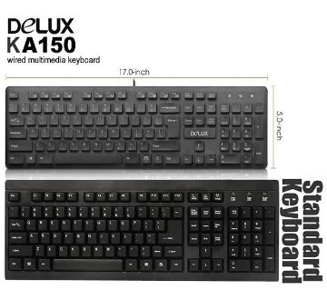 Delux KA150 Keyboard Black Wired Multimedia