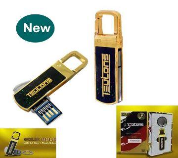 TEUTONS Solid Gold Plus 32 GB USB 3.1 Gen-1 Flash Drive