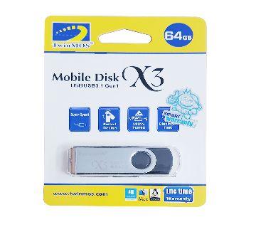 64 GB USB 3.1 TwinMos Pendrive - Lifetime Warranty
