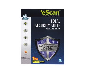 eScan Total Security with Anti Theft Antivirus 2021 - 1 PC / 1 Years
