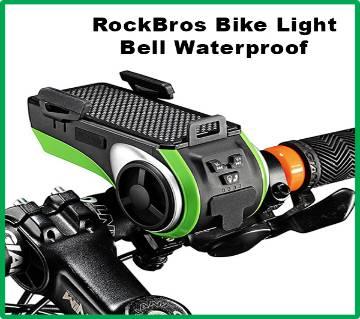 RockBros Bike Light Bell Waterproof Bike Phone Holder Bluetooth Sensor Lights Multi 8 in