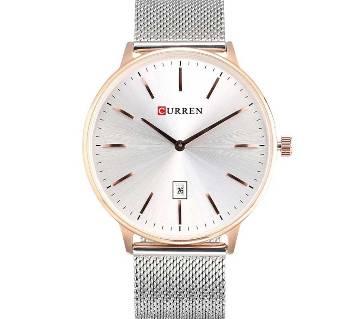CURREN 8302 Super Slim Silver  Watch For Men