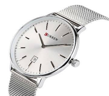 CURREN 8302 Super Slim Watch For Men Silver