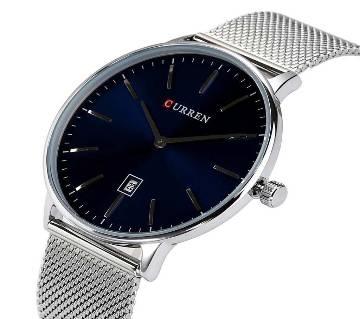 CURREN 8302 Super Slim Watch Silver For Men