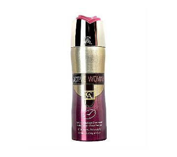 CHRIS ADAMS Active Woman Deodorant Body Spray 200ml UAE