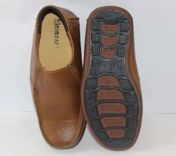 CHOCOLATE LEATHER FORMAL SHOES FOR MEN