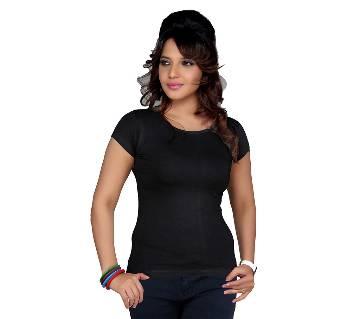 Clifton Womens Plain T-Shirt--Black