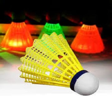 LED Badminton Set Shuttlecock 5 Father in 1 box