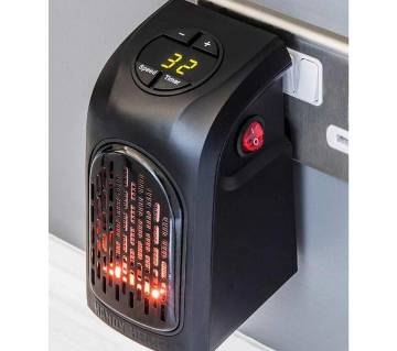 Mini Ceramic Space Heater, 400w Portable Fast Heating Electric Heater with Time