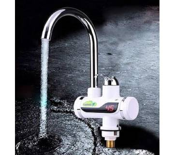 220V 3000W Tankless Instant Heating Sink Tap 360° Digital Display Electric Water Heater Faucet EU