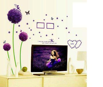 Purple Dandelion ওয়াল স্টিকার