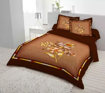 King Size Bed Sheet set with two Pillow Cover -chocolate