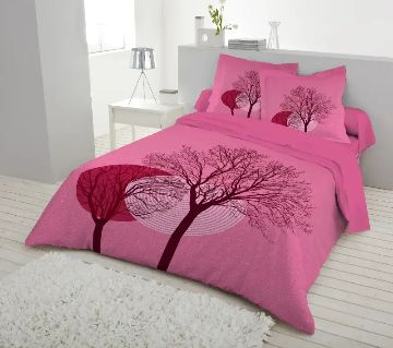 King Size Cotton Bed Sheet set with 2 Pillow Covers